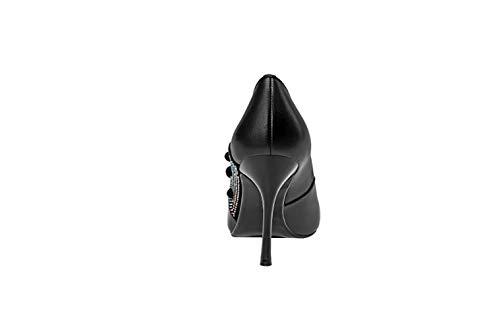 Glisser B Femme Chaussures Noir Escarpins Bout Cadxpt 5cm 7 Calaier nbsp;pointu Sur YTzxPTn
