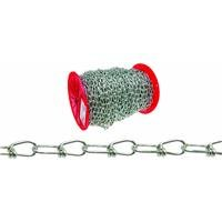 Campbell 0720427 Low Carbon Steel Inco Double Loop Chain on Reel, Zinc plated, #4 Trade, 0.07'' Diameter, 500' Length, 70 lbs Load Capacity by Apex Tool Group
