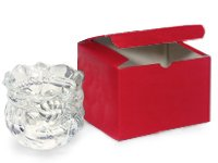 Red Gloss Gift Boxes 6x6x4'' (100 Pack ) by Nas