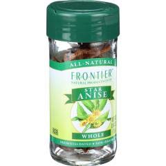 Frontier Herb - Select Whole Star Anise (4 - .64 OZ) - Whole Spices for Mulling Cider and Wine