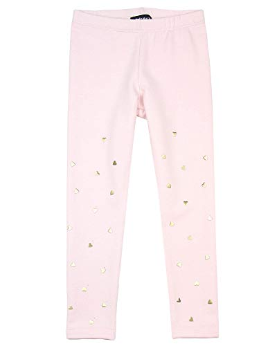 Kate Mack Girls' Melting Heart Leggings with Hearts in Pink, Sizes 4-12 - 4