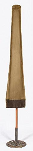Dobar Heavy Duty Waterproof Vinyl Patio Umbrella Cover with (Umbrella Plastic Cover)