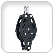 Harken, 75mm Carbo Ratchamatic Block w/Becket,