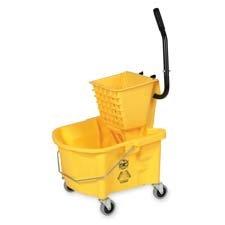 "Genuine Joe 60466 Mop Bucket Wringer Combo, 3"" Casters, 26 q"