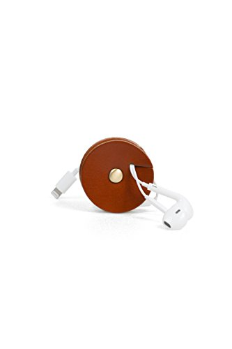 - Above the Fray TunePoint Leather Cord Organizer for Earphones/Earbud Holder (Mahogany)