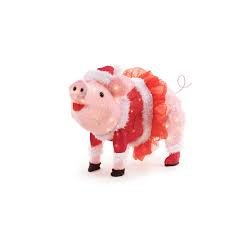 Lighted Christmas Pig Outdoor Decoration in US - 2