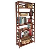Flip Flop 6-Shelf Folding Bookcase CHERRY