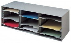 Buddy Products 12 Compartment Sorting Rack, Steel, 11.5 x 10.25 x 32.5 Inches, Black ()