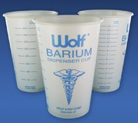 5949126 PT# 15601 Cup Barium Paper 14ozFOR X-Ray Darkroom 100/Pk Made by Wolf X-Ray
