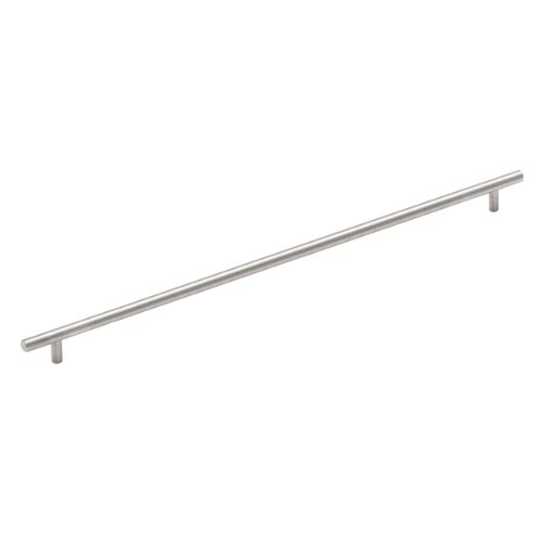 Cosmas 305-480SN Satin Nickel Cabinet Hardware Euro Style Bar Handle Pull - 18-5/16
