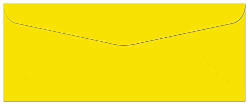 Note Card Cafe Colored Letter Envelopes #10 | Yellow | 100 Pack | 9.5 x 4.125 in | Press and Seal Flap | for Business, Letters, Greeting Cards, Thank You Notes, Mailing Invitations, Documents