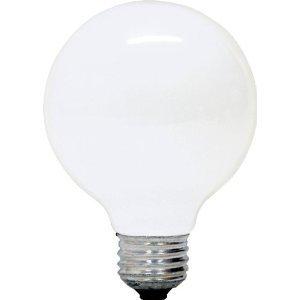 (4 Pack) 60-Watt G25 Medium (E26) Base Globe Incandescent Light Bulb White