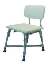 MediChoice Shower Chair, w/ Backrest, Adjustable 16-20 Inch, Aluminum, Bariatric - 600 lbs Capacity, 2867BTH251 (1 Each)