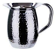 (OKSLO Wpb-3h, 3-quart hammered bell pitcher, sophisticated carafe, stainless steel, id )