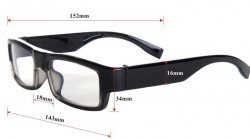 Mini Gadgets Sophisticated Spec Glasses DVR HD Camera 720P by Mini Gadgets