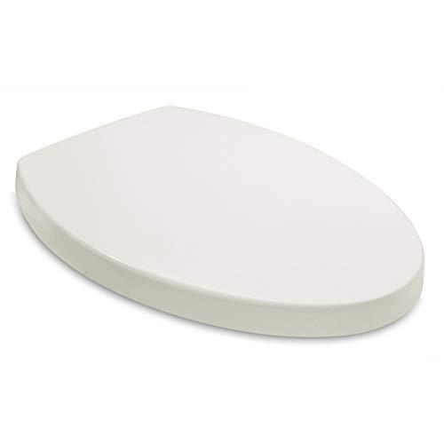 Bath Royale BR631B-01 Premium Elongated Child-Adult Toilet Seat with Cover, Biscuit-Linen, Slow-Close, Quick-Release for Easy Cleaning, Ideal for Kids Potty Training - Fits All Elongated Toilets