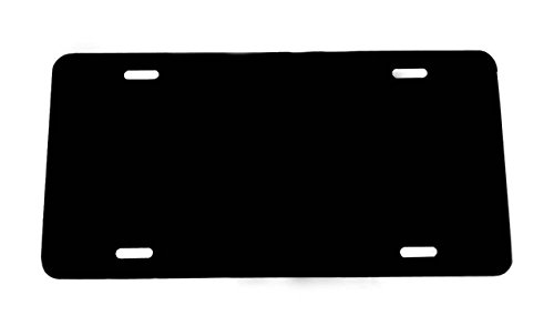 BLACK [1-PACK] Blank Aluminum License Plate - 0.025 Thickness/0.5mm - US/Canada Size 12x6