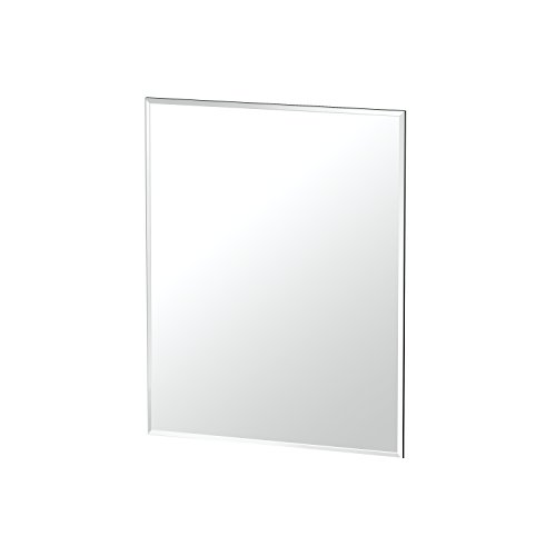 Gatco 1803 Flush Mount Frameless Rectangle Mirror, - 18 Frameless Bathroom Wide Mirrors