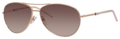 Marc Jacobs Marc59s Aviator Sunglasses, Gold Copper/Brown Gradient, 59 mm (Marc By Marc Jacobs Aviator)