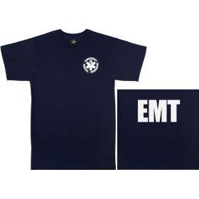 Rothco T-Shirt, EMT/Navy Blue, Small