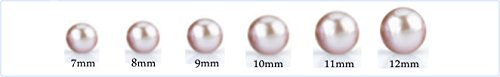 THE PEARL SOURCE 9 10mm Genuine Freshwater Cultured Pearl Infinity Pendant Necklace for Women