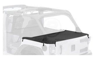 Top Deck 2009 (Bestop 90031-35 Black Diamond Duster Deck Cover for 2007-2017 Wrangler Unlimited (with factory soft top hardware removed))