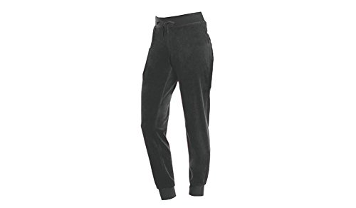 Elastic Cuff Pants (Coco-Limon Velour Long Sweatpants for Women - Side Pockets and Elastic Waist Charcoal Medium)