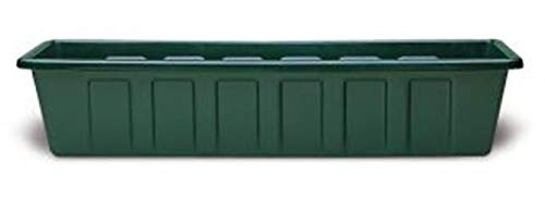 Poly-Pro Plastic Flower Box Planter, Hunter Green, ()