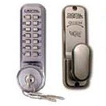 Digital Door Lock 2435 Inside Lever with Key Override, Satin Chrome by Lockey USA