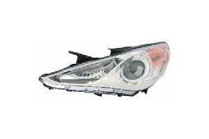 Hyundai Sonata 11-13 Headlight Assembly GLS Type 1 (white Bezel) LH USA Driver Side CAPA