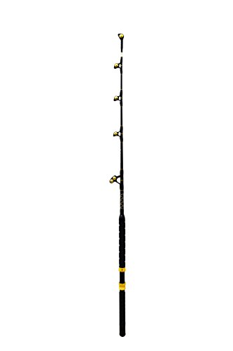 Saltwater Fishing Rod Custom Blue Marlin Tournament Edition Wind on Leader Guides 130 to 160 Pound Class Pole ()