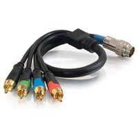 (C2G 42079 RapidRun RCA Component Video + S/PDIF Digital Audio Flying Lead, Black (1.5 Feet, 0.45 Meters))
