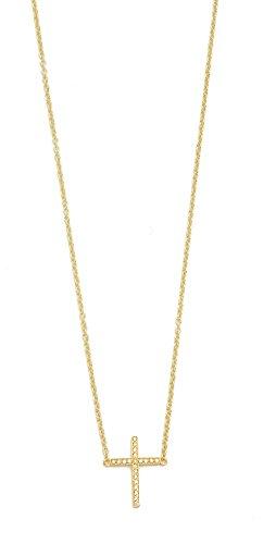 Jennifer Meyer Jewelry Slight Cross Necklace
