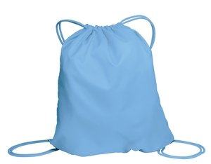 Joe's USA Basic Drawstring Backpack - 16 Colors to Choose From (Carolina Blue)