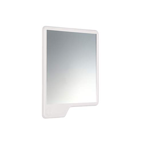 Tooletries - The Oliver (White) Silicone Waterproof Mighty Mirror, Silicone Toiletry Organizer, -