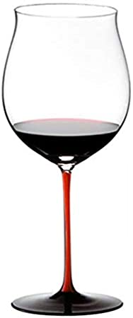 ZKHD Corbata roja Borgoña Copa de Vino Burdeos Vidrio de Vino Austriaco Importado Cristal Master Hecho a Mano,1050ml / 37oz Burgundy Cup
