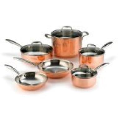 KitchenAid KCPS10CP Tri-Ply Copper 10-Piece Set Cookware - Satin Copper