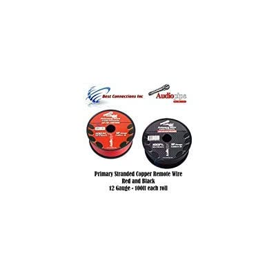 Audiopipe 12 Gauge Wire RED & Black Power Ground 100 FT Each Primary Stranded Copper CLAD: Automotive