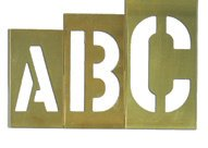 Brass Number Stencil Set | 4 inch Font | 15 Pieces |Brass Paint Stencils for Labels, Wall Signs, and Pavement