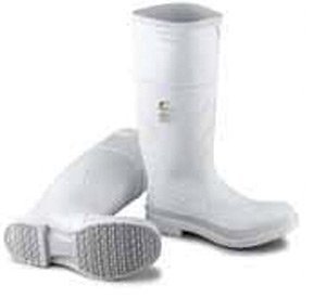 Bata Shoe 81012-11 Onguard Industries Size 11 White 16'' PVC Knee Boots With Safety-Loc Outsole, Steel Toe And Removable Insole, English, 15.34 fl. oz, Plastic, 16