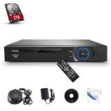 SANNCE 8CH 720P DVR Recorder with 1TB Hard Drive Pre-install