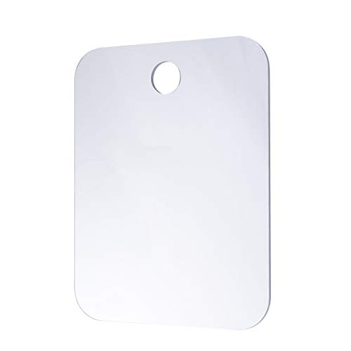 OUNONA Espejo de Ducha antiniebla sin Niebla Espejo de Afeitado Fácil de Limpiar Baño Baño Que cuelga Espejo