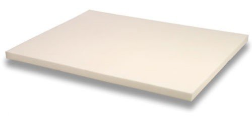 King Size 3 Inch Thick, 4 Pound Density Visco Elastic Memory Foam Mattress Pad Bed Topper Made in the USA