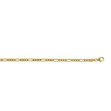 Or jaune 14 carats 3,5 mm-Maille Figaro Bracelet JewelryWeb 8 cm