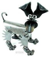 Happy Puppy Metal Sculpture by YardBirds