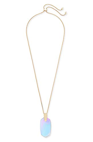 Kendra Scott Womens Inez Necklace Rose Gold Dichroic Glass One Size