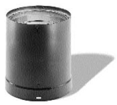 Black Double Wall Stove Pipe - DVL Black Stovepipe - 6