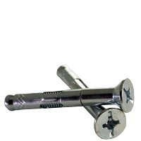 200pcs 3//8x6 Sleeve Anchor Flat Head Phillips//Slotted Combo Zinc CR+3 Size: 3//8 inch Length: 6