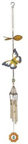 Red Carpet Studios 11103 28-Inch Fancy Flight Metal Propeller Wind Chime, Butterfly