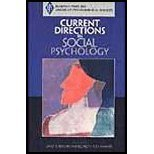 Current Directions in Social Psychology (04) by [Paperback (2003)]